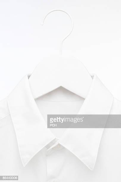 Hi-key white shirt on hanger