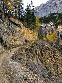 Hiking towards Mount Robson, British Columbia in Canada