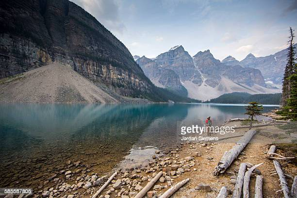 Hiking around Moraine Lake.