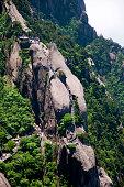 Hiking at Huangshan mountain Anhui Province