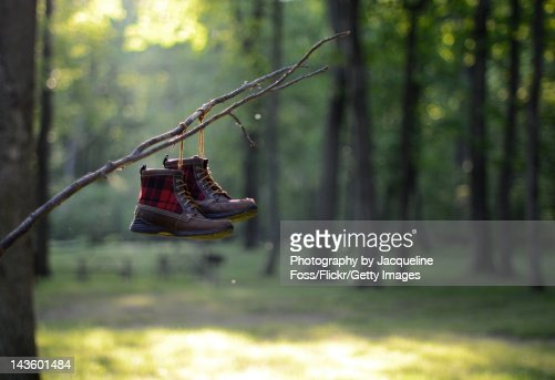 Hiking boots : Stock Photo