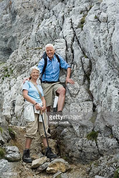 ハイキングのカップル