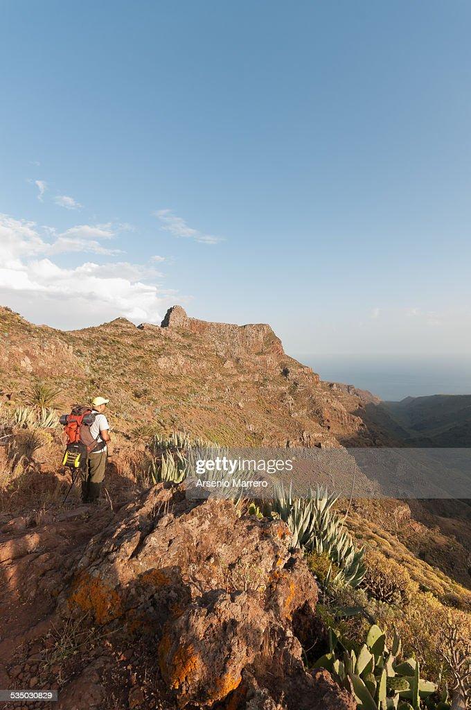 Hiking in La Gomera Island near Seima