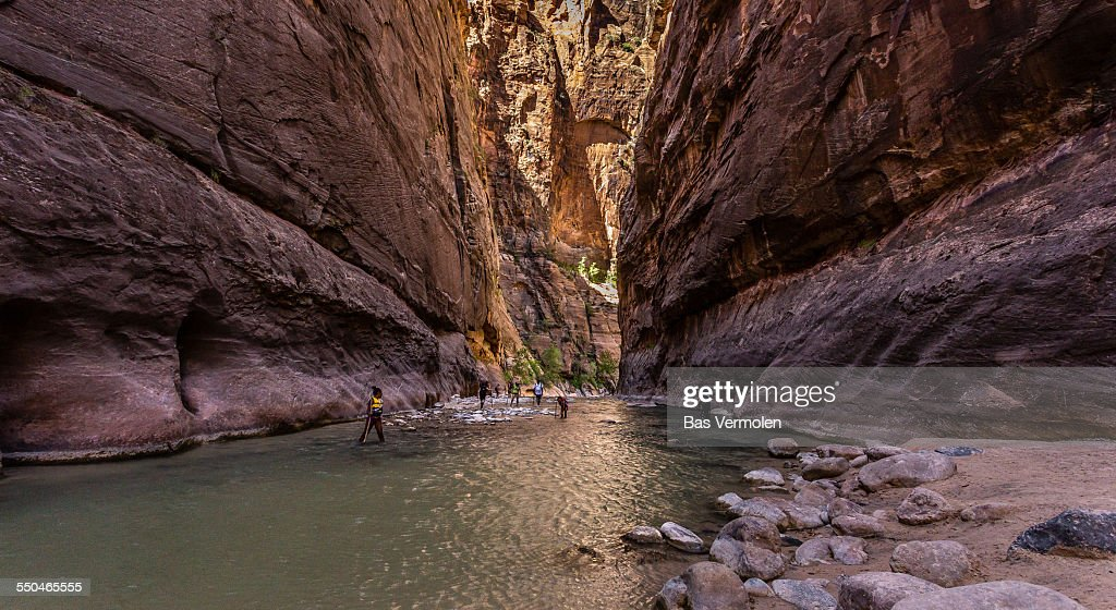 Hiking in The Narrows, Zion