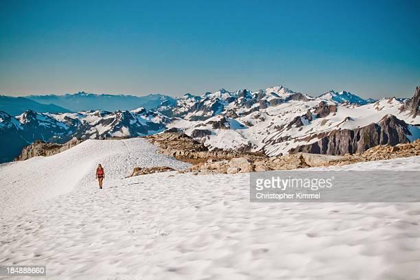 Hiking on snow