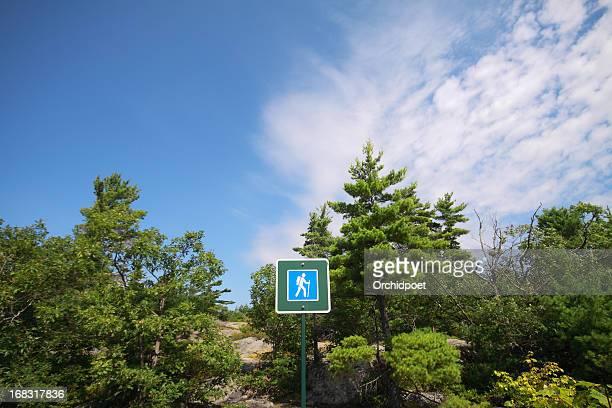 Panneau de randonnée