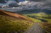 Dark weather incoming in the English Lake District near Keswick