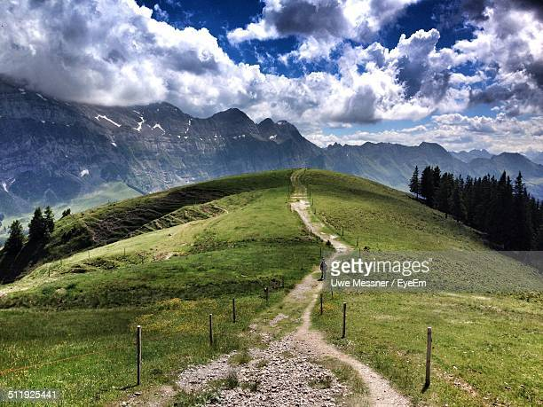 Hiking trail in mountain landscape
