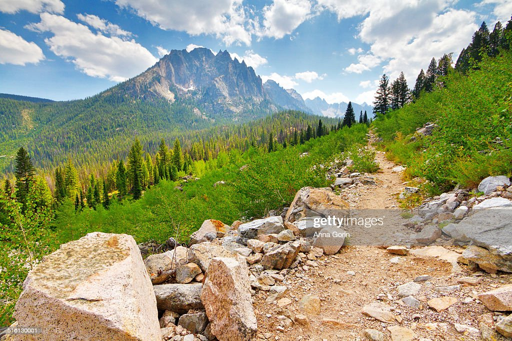 Hiking trail in Sawtooth Mountains, Idaho