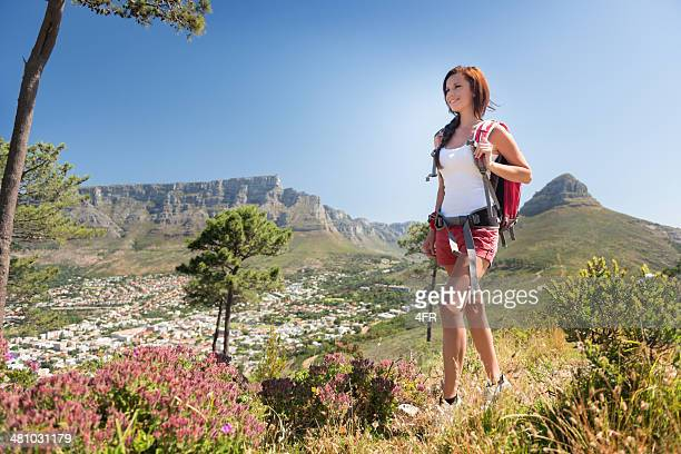 Hiking up Signal Hills, Cape Town