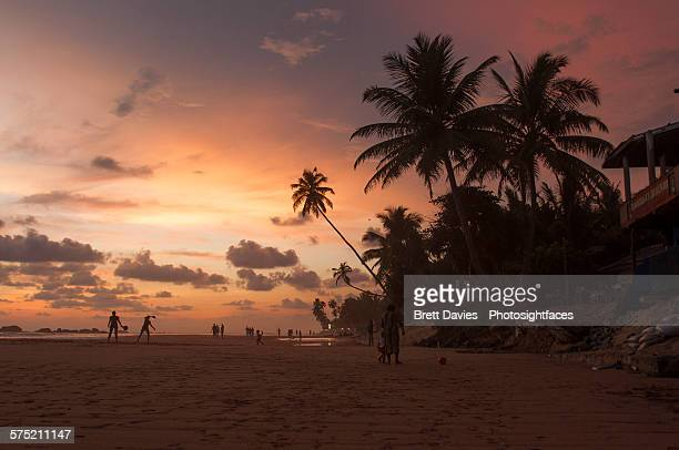 Hikkaduwa beach sunset