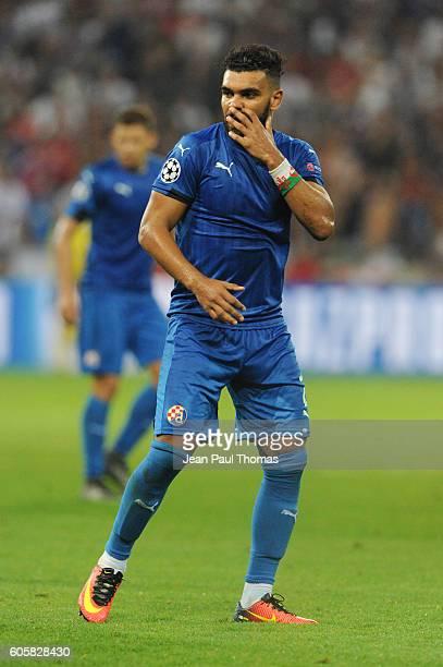 Hilal El Arbi Soudani of Dinamo Zagreb during the Uefa Champons League match between Olympique Lyonnais Lyon and Dinamo Zagreb at Stade des Lumieres...