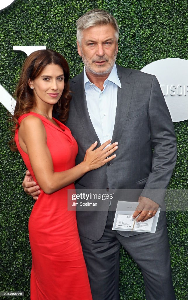 Hilaria Baldwin and actor Alec Baldwin attend the 17th Annual USTA Foundation Opening Night Gala at USTA Billie Jean King National Tennis Center on August 28, 2017 in the Queens borough of New York City.