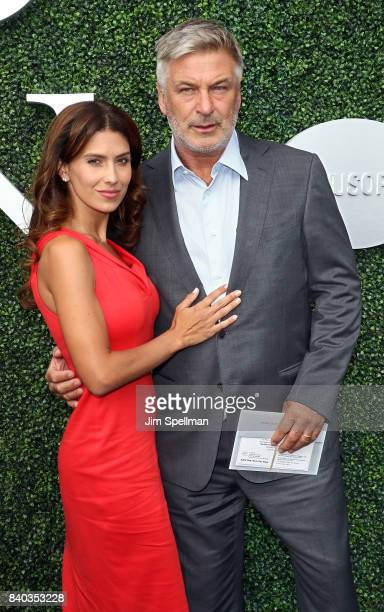 Hilaria Baldwin and actor Alec Baldwin attend the 17th Annual USTA Foundation Opening Night Gala at USTA Billie Jean King National Tennis Center on...