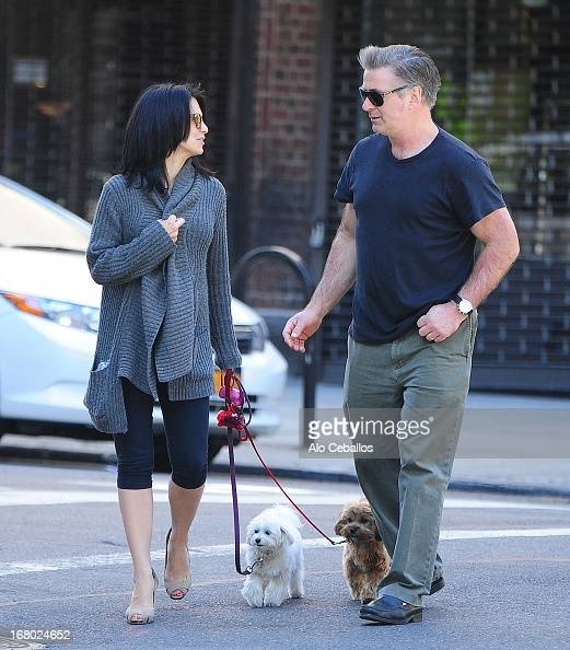 Hilaria Baldwin and Alec Baldwin are seen in the West Village on May 4 2013 in New York City