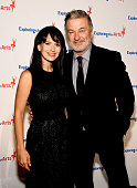 Hilaria Baldwin and Alec Baldwin attend the 9th Annual Exploring The Arts Gala at Cipriani 42nd Street on September 28 2015 in New York City
