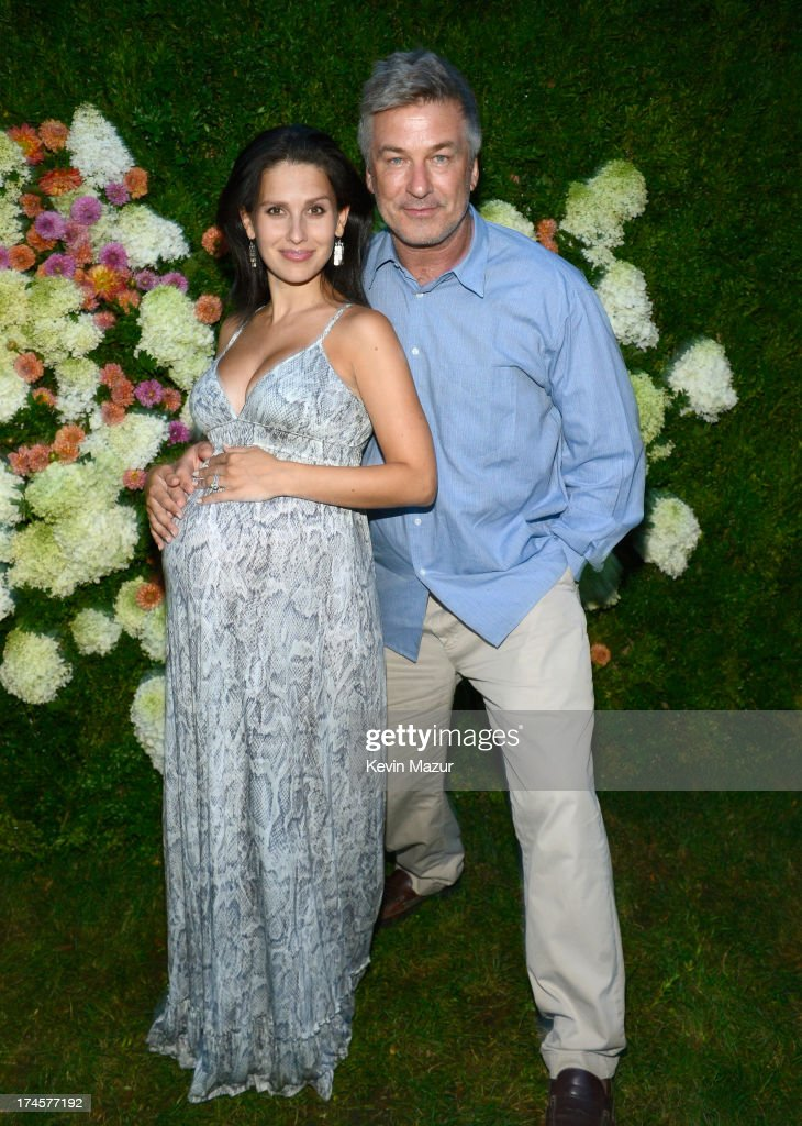 <a gi-track='captionPersonalityLinkClicked' href=/galleries/search?phrase=Hilaria+Baldwin&family=editorial&specificpeople=7856471 ng-click='$event.stopPropagation()'>Hilaria Baldwin</a> and <a gi-track='captionPersonalityLinkClicked' href=/galleries/search?phrase=Alec+Baldwin&family=editorial&specificpeople=202864 ng-click='$event.stopPropagation()'>Alec Baldwin</a> attend the Baby Buggy Summer Dinner hosted by Jessica and Jerry Seinfeld and rag & bone on July 27, 2013 in East Hampton, New York.