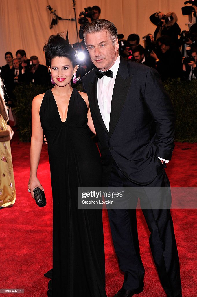 Hilaria Baldwin and Alec Baldwin attend the Costume Institute Gala for the 'PUNK: Chaos to Couture' exhibition at the Metropolitan Museum of Art on May 6, 2013 in New York City.