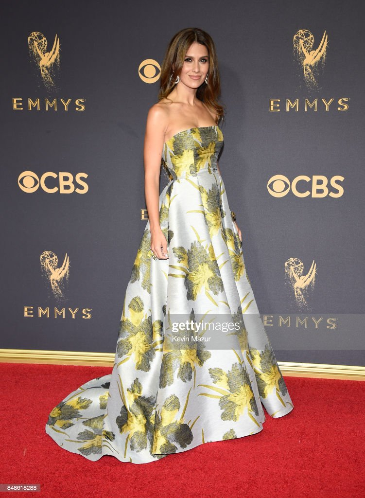 Hilaria Baldwin attends the 69th Annual Primetime Emmy Awards at Microsoft Theater on September 17, 2017 in Los Angeles, California.