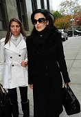 Hilaria Baldwin is seen at Manhattan Criminal Court on November 12 2013 in New York City Alec Baldwin is testifying against an alleged stalker...