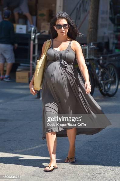 Hilaria Baldwin is seen on August 16 2013 in New York City