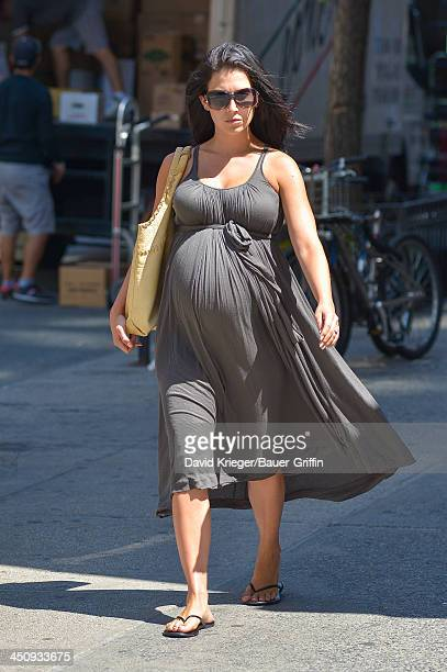 Hilaria Baldwin is seen on August 16 2013 in New York City