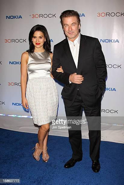 Hilaria Thomas and actor Alec Baldwin attend '30 Rock' Series Finale Wrap Party at Capitale on December 20 2012 in New York City