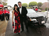 Hilaria Thomas and actor Alec Baldwin attend the 23rd Annual Elton John AIDS Foundation Academy Viewing Party in an Audi A8 L TDI on February 22 2015...