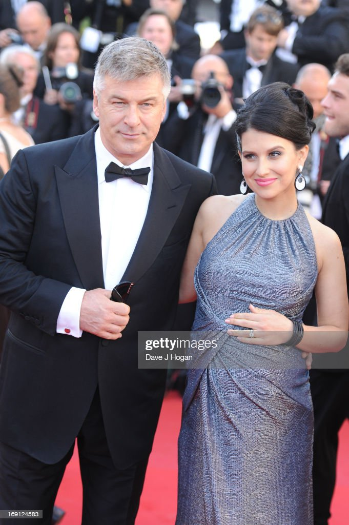 Hilaria Thomas (R) and actor <a gi-track='captionPersonalityLinkClicked' href=/galleries/search?phrase=Alec+Baldwin&family=editorial&specificpeople=202864 ng-click='$event.stopPropagation()'>Alec Baldwin</a> attend the premiere for 'Seduced and Abandoned' during The 66th Annual Cannes Film Festival at the Palais des Festivals on May 20, 2013 in Cannes, France.