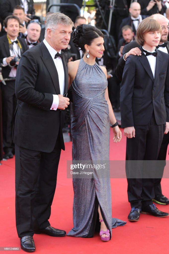 Hilaria Thomas (C) and actor Alec Baldwin attend the premiere for 'Seduced and Abandoned' during The 66th Annual Cannes Film Festival at the Palais des Festivals on May 20, 2013 in Cannes, France.