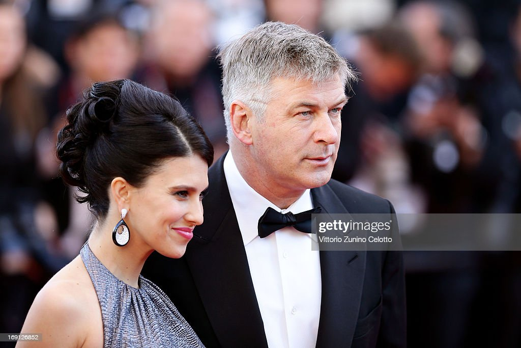 Hilaria Thomas (L) and actor Alec Baldwin attend the premiere for 'Seduced and Abandoned' during The 66th Annual Cannes Film Festival at the Palais des Festivals on May 20, 2013 in Cannes, France.