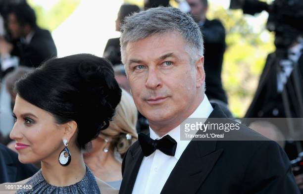 Hilaria Thomas and actor Alec Baldwin attend the premiere for 'Seduced and Abandoned' during The 66th Annual Cannes Film Festival at the Palais des...