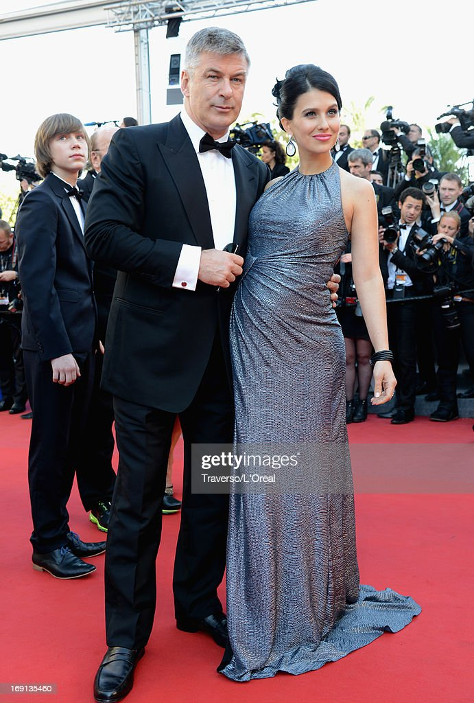 Hilaria Thomas (R) and actor Alec Baldwin attend the premiere for 'Seduced and Abandoned' during The 66th Annual Cannes Film Festival at the Palais des Festivals on May 20, 2013 in Cannes, France.