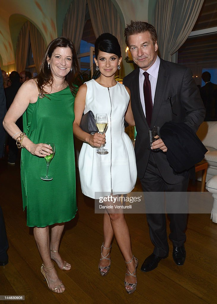 Hilaria Thomas and actor <a gi-track='captionPersonalityLinkClicked' href=/galleries/search?phrase=Alec+Baldwin&family=editorial&specificpeople=202864 ng-click='$event.stopPropagation()'>Alec Baldwin</a> attend the Vanity Fair and Gucci Party at Hotel Du Cap during 65th Annual Cannes Film Festival on May 19, 2012 in Antibes, France.