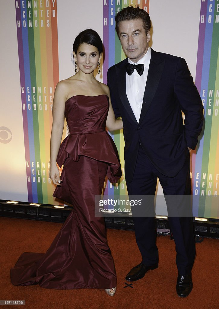 Hilaria Thomas and <a gi-track='captionPersonalityLinkClicked' href=/galleries/search?phrase=Alec+Baldwin&family=editorial&specificpeople=202864 ng-click='$event.stopPropagation()'>Alec Baldwin</a> attend the 35th Kennedy Center Honors at the Kennedy Center Hall of States on December 2, 2012 in Washington, DC.