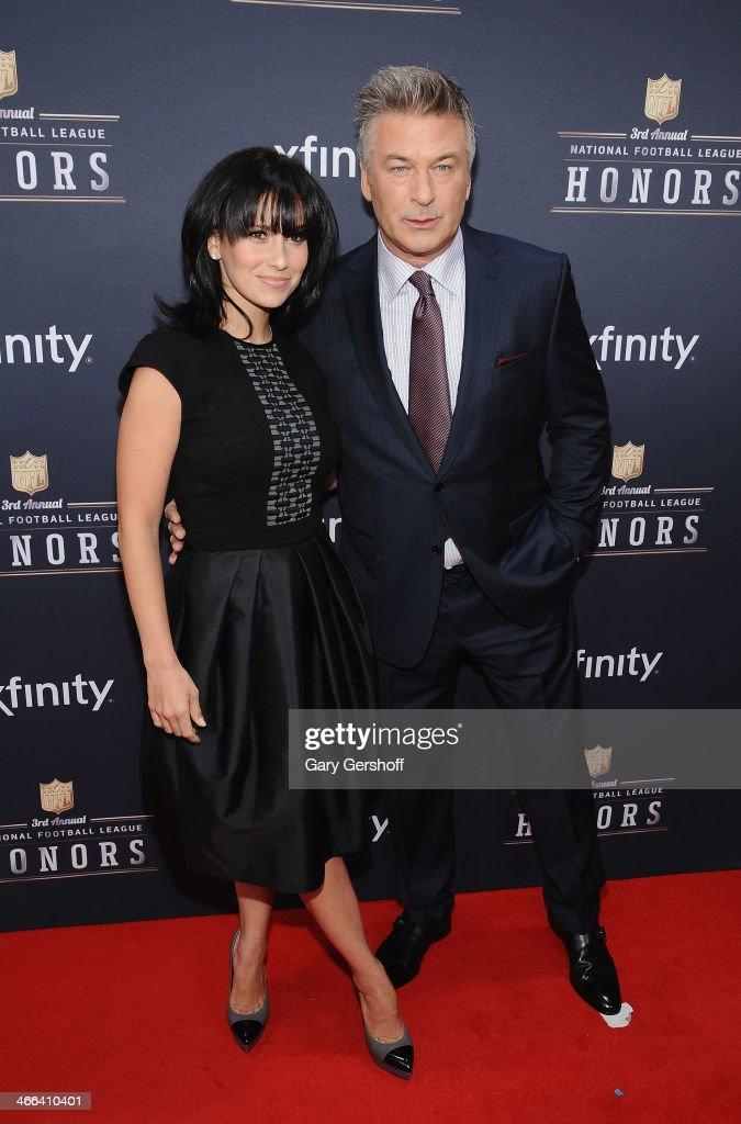 Hilaria Thomas and <a gi-track='captionPersonalityLinkClicked' href=/galleries/search?phrase=Alec+Baldwin&family=editorial&specificpeople=202864 ng-click='$event.stopPropagation()'>Alec Baldwin</a> attend the 3rd Annual NFL Honors at Radio City Music Hall on February 1, 2014 in New York City.