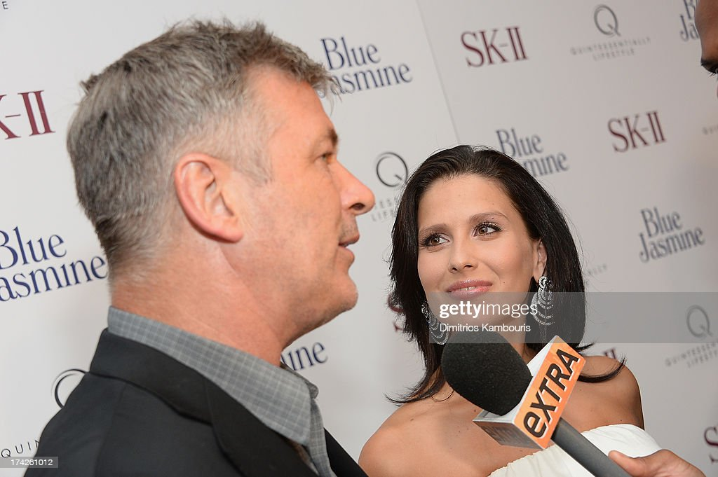 Hilaria Thomas and <a gi-track='captionPersonalityLinkClicked' href=/galleries/search?phrase=Alec+Baldwin&family=editorial&specificpeople=202864 ng-click='$event.stopPropagation()'>Alec Baldwin</a> attend the 'Blue Jasmine' New York Premiere at the Museum of Modern Art on July 22, 2013 in New York City.