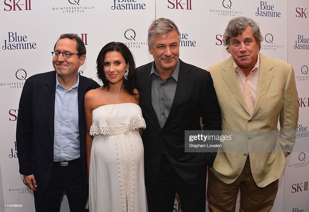 Hilaria Thomas and <a gi-track='captionPersonalityLinkClicked' href=/galleries/search?phrase=Alec+Baldwin&family=editorial&specificpeople=202864 ng-click='$event.stopPropagation()'>Alec Baldwin</a> (center) with <a gi-track='captionPersonalityLinkClicked' href=/galleries/search?phrase=Michael+Barker+-+CEO&family=editorial&specificpeople=236048 ng-click='$event.stopPropagation()'>Michael Barker</a> and <a gi-track='captionPersonalityLinkClicked' href=/galleries/search?phrase=Tom+Bernard&family=editorial&specificpeople=204620 ng-click='$event.stopPropagation()'>Tom Bernard</a>, Co-Presidents of Sony Pictures Classics at the 'Blue Jasmine' New York Premiere at the Museum of Modern Art on July 22, 2013 in New York City.