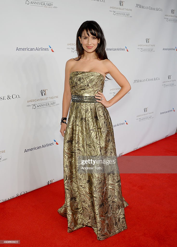 Hilaria Thomas attends the American Ballet Theatre's 75th Anniversary Gala at David H. Koch Theater, Lincoln Center on October 21, 2015 in New York City.