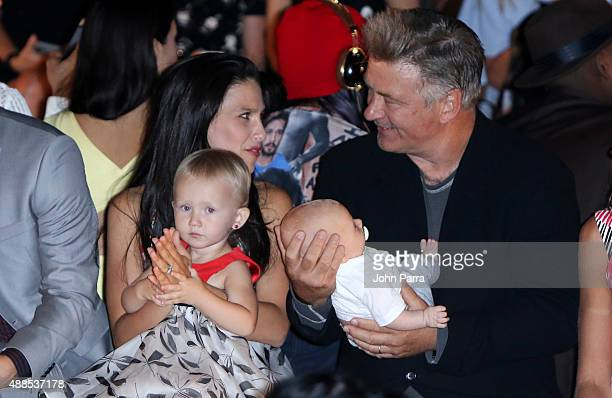 Hilaria Thomas Carmen Baldwin Rafael Baldwin and actor Alec Baldwin attend the Carmen Marc Valvo Spring 2016 New York Fashion Week at The Arc...