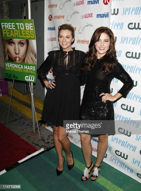 Hilarie Burton and Sophia Bush during Seventeen Magazine Celebrates Hearst Magazines '30 Days of Fashion' at Show Nightclub in New York City New York...