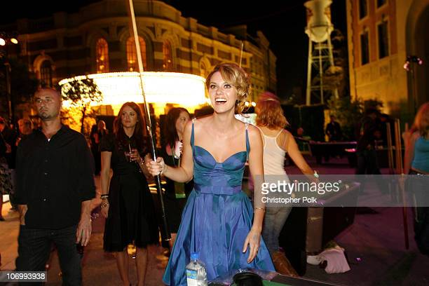 Hilarie Burton during CW Launch Party Inside at WB Main Lot in Burbank California United States