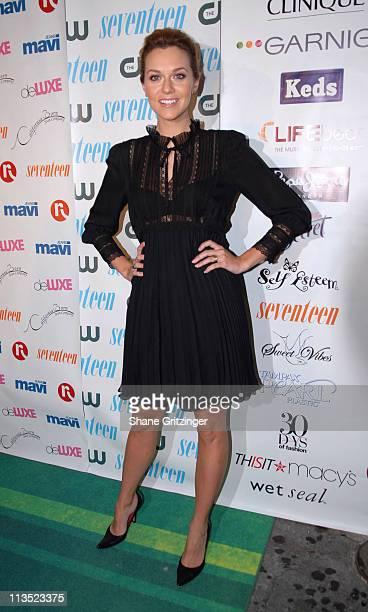 Hilarie Burton during Seventeen Magazine Celebrates Hearst Magazines '30 Days of Fashion' at Show Nightclub in New York City New York United States