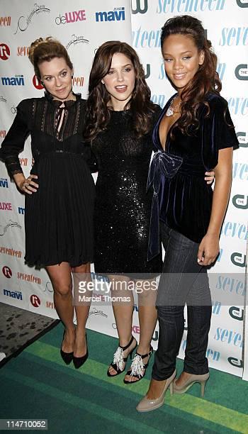 Hilarie Burton Sophia Bush and Rihanna during Seventeen Magazine Celebrates Hearst Magazines '30 Days of Fashion' at Show Nightclub in New York City...