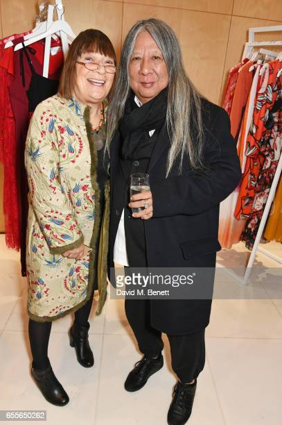 Hilary Alexander and John Rocha attend the Debenhams Summer 17 Salon Show with global supermodel Helena Christensen and Emma Willis alongside a...