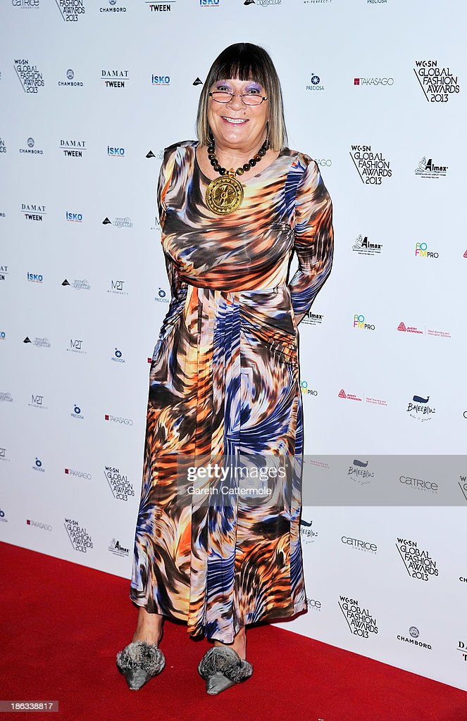<a gi-track='captionPersonalityLinkClicked' href=/galleries/search?phrase=Hilary+Alexander&family=editorial&specificpeople=220588 ng-click='$event.stopPropagation()'>Hilary Alexander</a> attends the WGSN Global Fashion awards at Victoria & Albert Museum on October 30, 2013 in London, England.