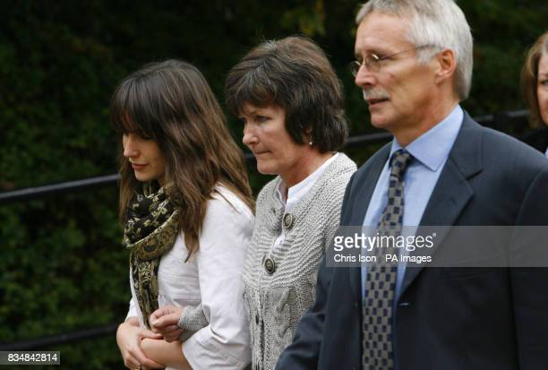 Hilary and Trevor Foster outside Winchester Crown Court in Hampshire with their daughter Sarah where they are waiting to hear to opening of the trial...