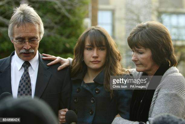 Hilary and Trevor Foster speak to the media outside Winchester Crown Court with their daughter Sarah after a jury found Maninder Pal Singh Kohli...