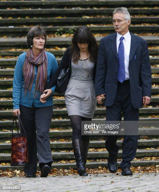 Hilary and Trevor Foster with their daughter Sarah at Winchester Crown Court in Hampshire for the start of the trial of Maninder Pal Singh Kohli who...