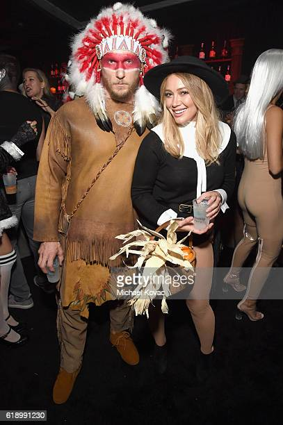 Hilary Duff and Jason Walsh attend the Casamigos Halloween Party at a private residence on October 28 2016 in Beverly Hills California